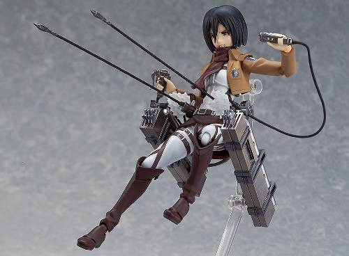 15cm Figma #203 Attack on Titan Mikasa Ackerman PVC Action Figure Toy New Loose