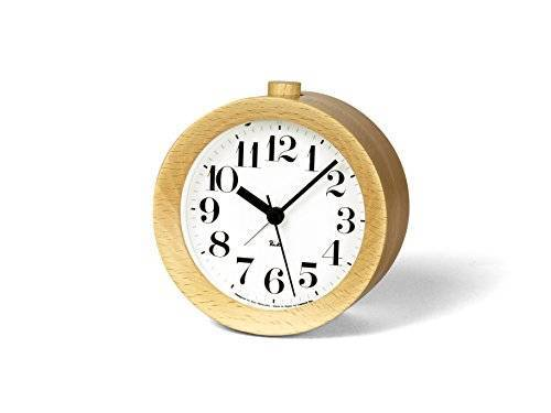 Lemnos RIKI ALARM CLOCK Alarm Clock Natural WR09-15NT Table Clock w/tracking# JP