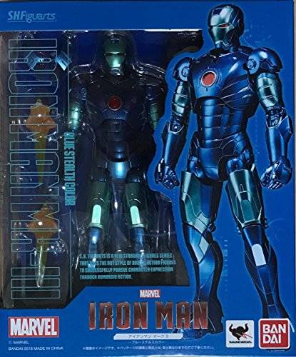 Details about FREE SHIP Bandai S H Figuarts Iron Man Mark 3 Blue Stealth  Color Limited edition